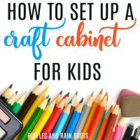 How to Set Up a Simple Craft Station for Kids