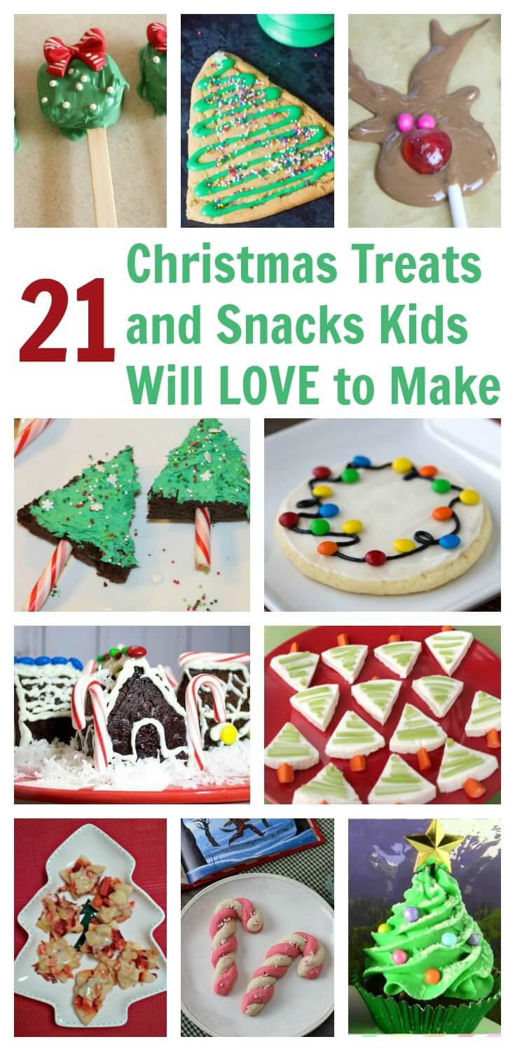 Christmas Themed Treats And Snacks Kids Will Love To Make