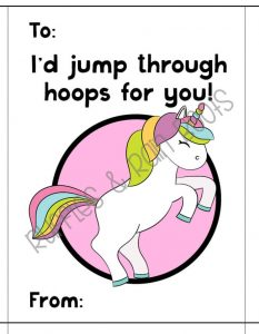 Free Unicorn Valentine's Day Cards for Kids Classroom Printable