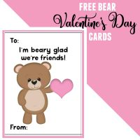 Woodland Animals – Free Bear Valentine's Day Cards for Kids