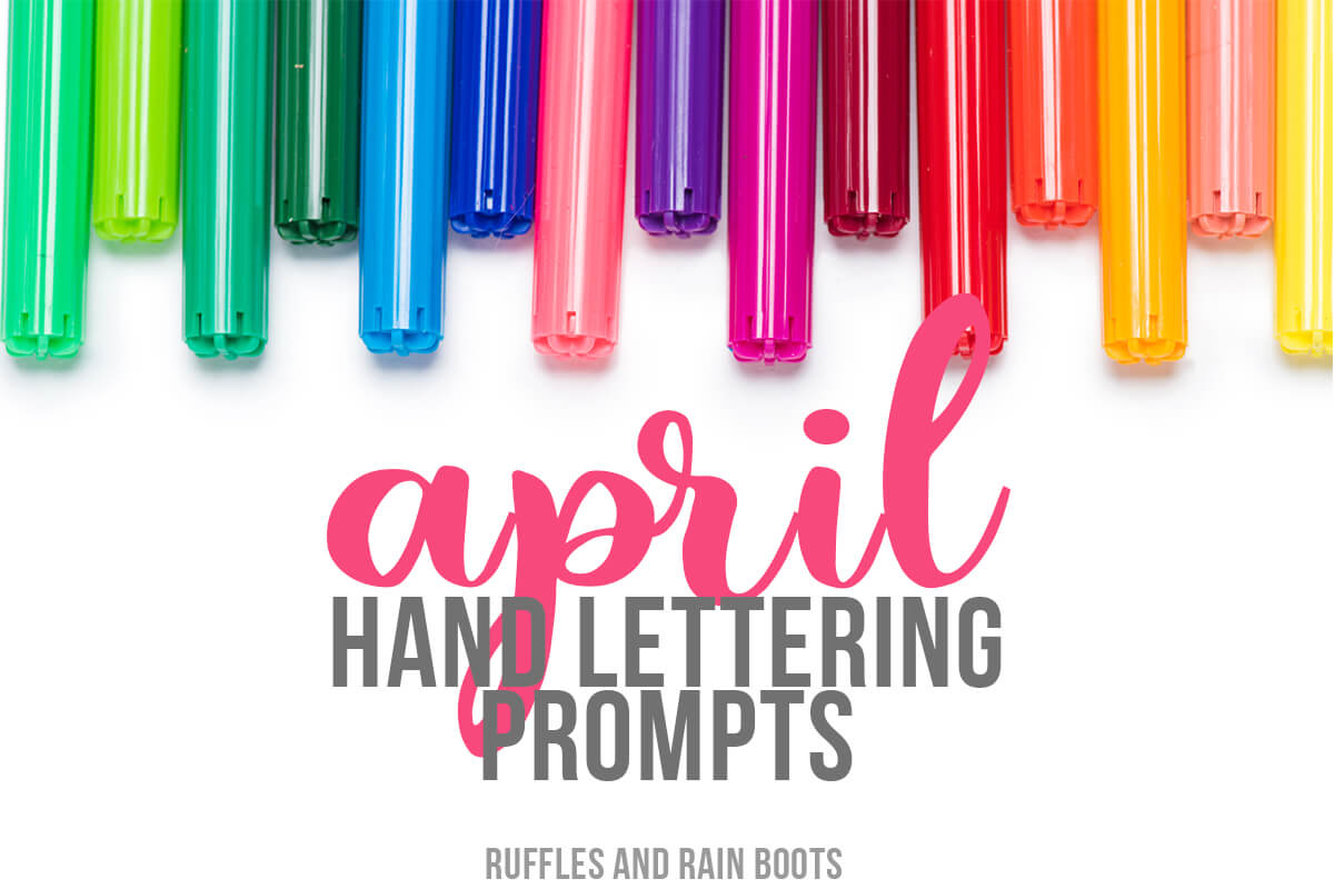 Grab these Hand Lettering Prompts for April, featuring 3 font and type styles and a free, 11-page practice workbook! These prompts are also great for bullet journals and doodling.