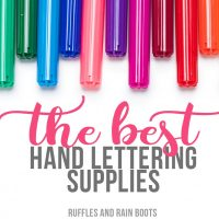 Hand Lettering Supplies for Beginners
