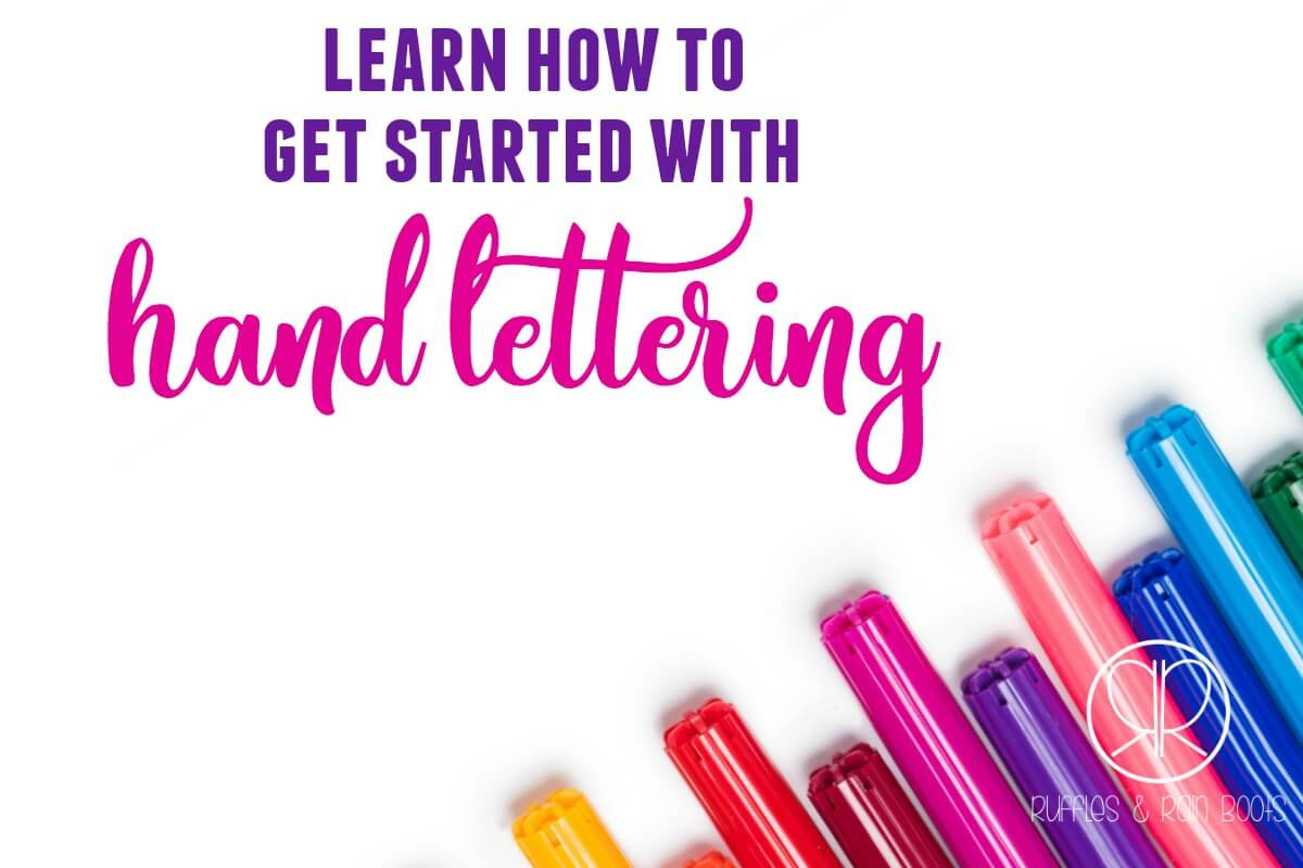 Learn how to get started with hand lettering or brush lettering. Free bounce lettering practice sheets and so much more!