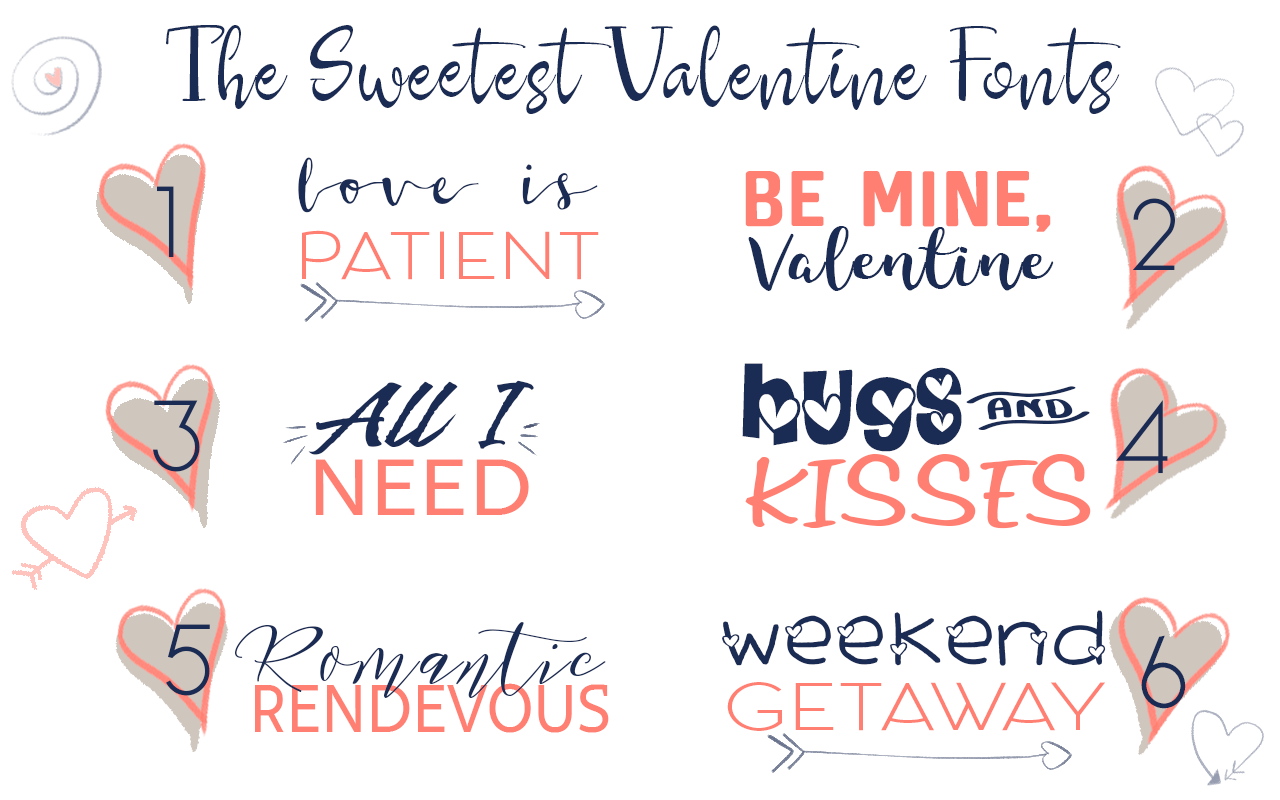 The Best Free Valentine\'s Day Fonts - Ruffles and Rain Boots