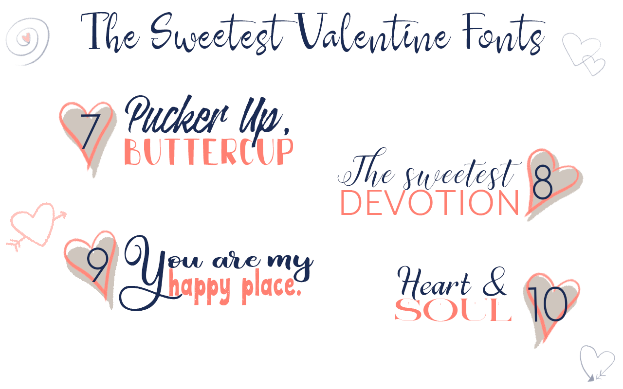 Get these adorable and low-priced fonts for Valentine's Day, wedding invitations, announcements, and crafts.