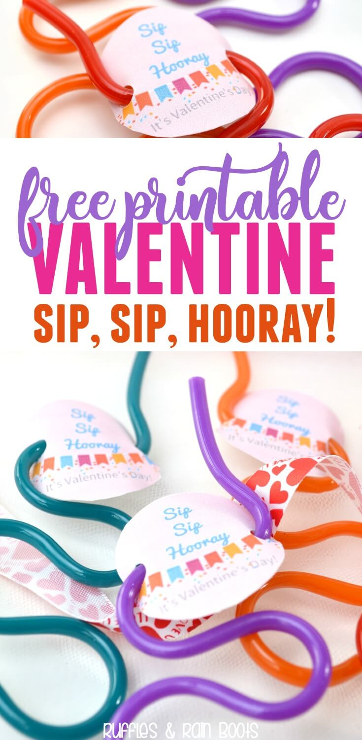 This straw Valentine printable is sure to please the littlest cupid. It's great to give and receive this non-candy Valentine idea for kids and classrooms. #valentine #printable #valentinesday #classroomvalentine #noncandyvalentine