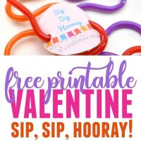 Straw Valentine Printable – Non-Candy Valentine Idea