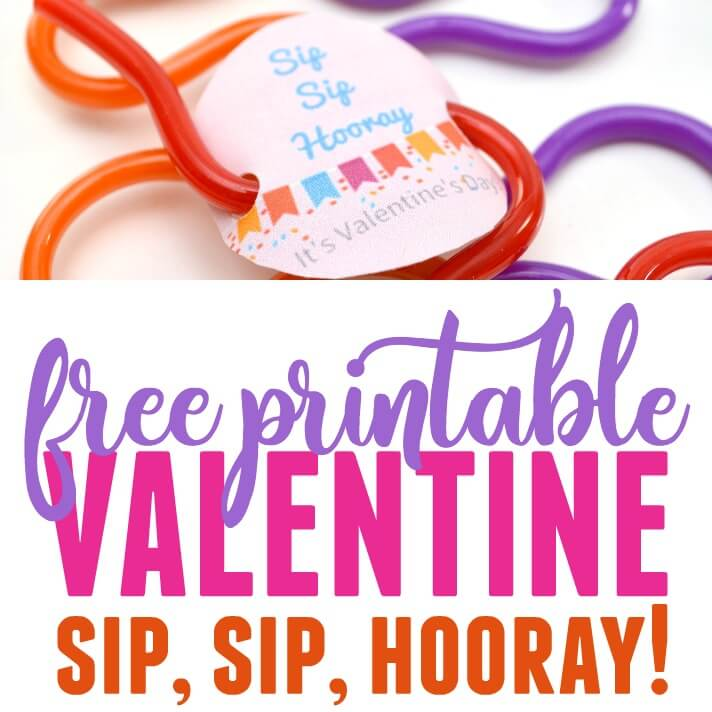 photograph relating to Sip Sip Hooray Printable referred to as Straw Valentine Printable - Non-Sweet Valentine Thought