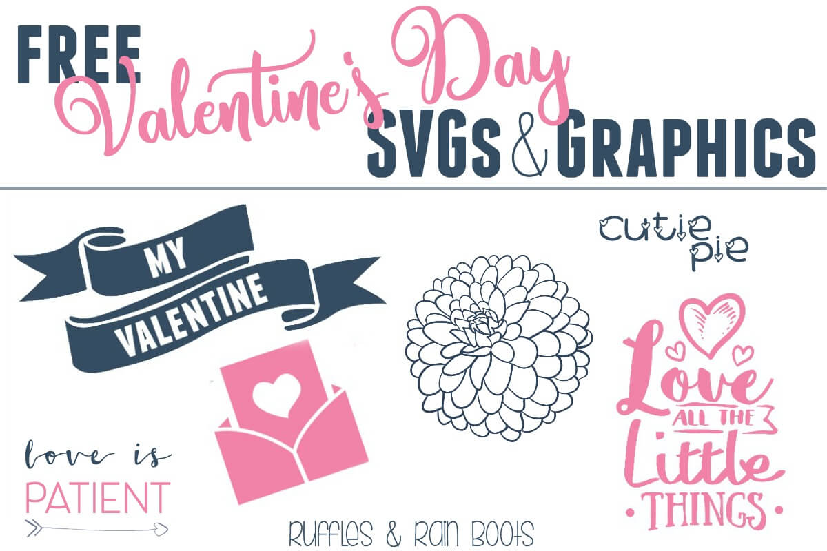 Get these free SVG cutting files and graphics for Valentine's Day and wedding invitations