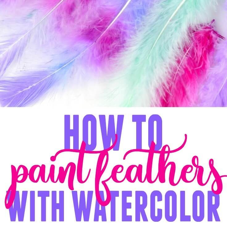 How to Dye Feathers - Paint Feathers with Watercolor