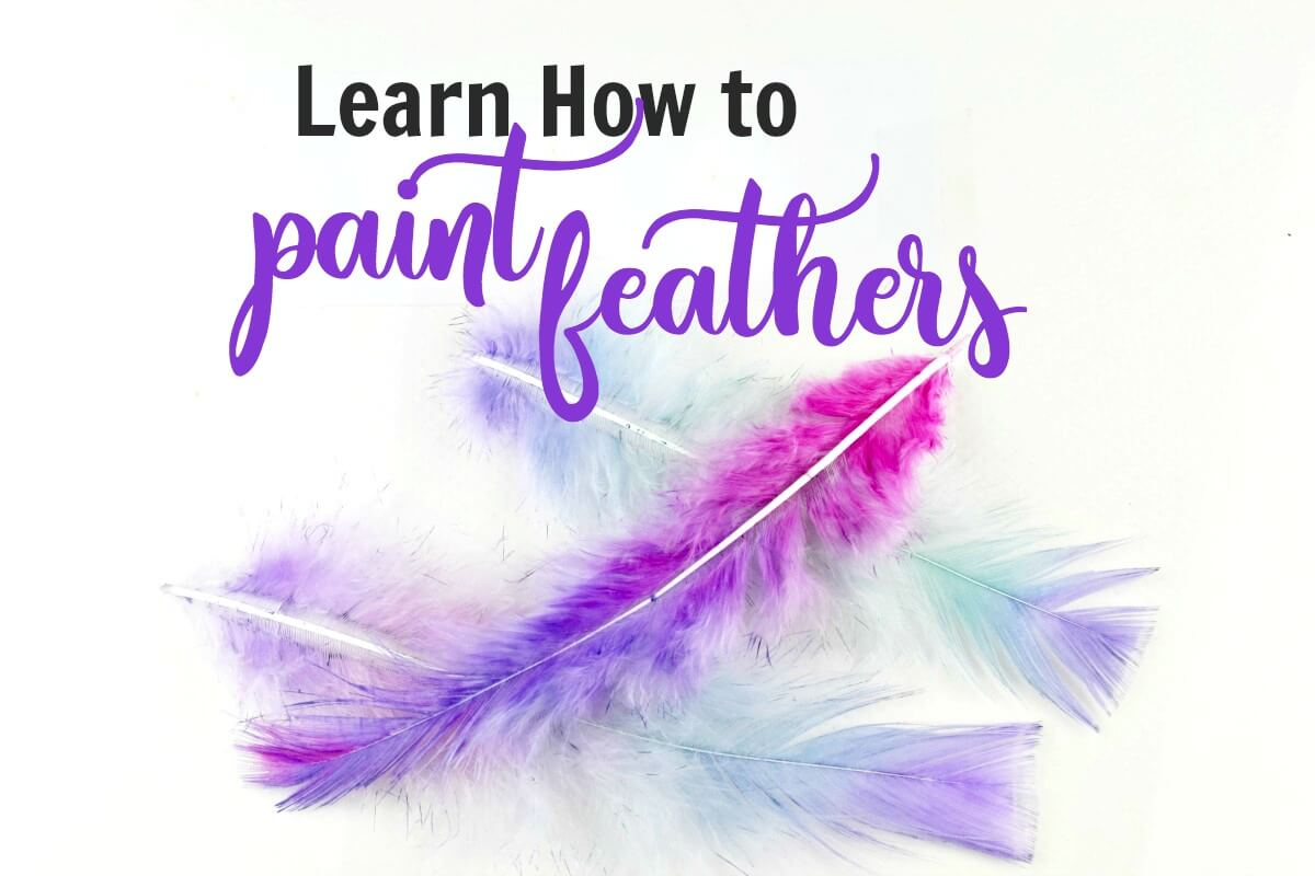 Use this DIY tutorial to paint feathers with watercolor and stay away from harmful dye
