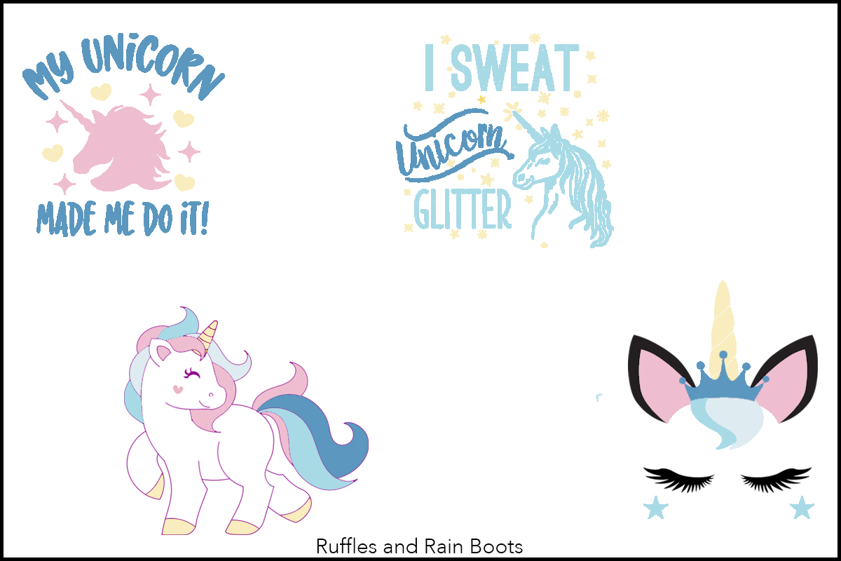 Free Unicorn SVGs for Cricut Silhouette and Blotting