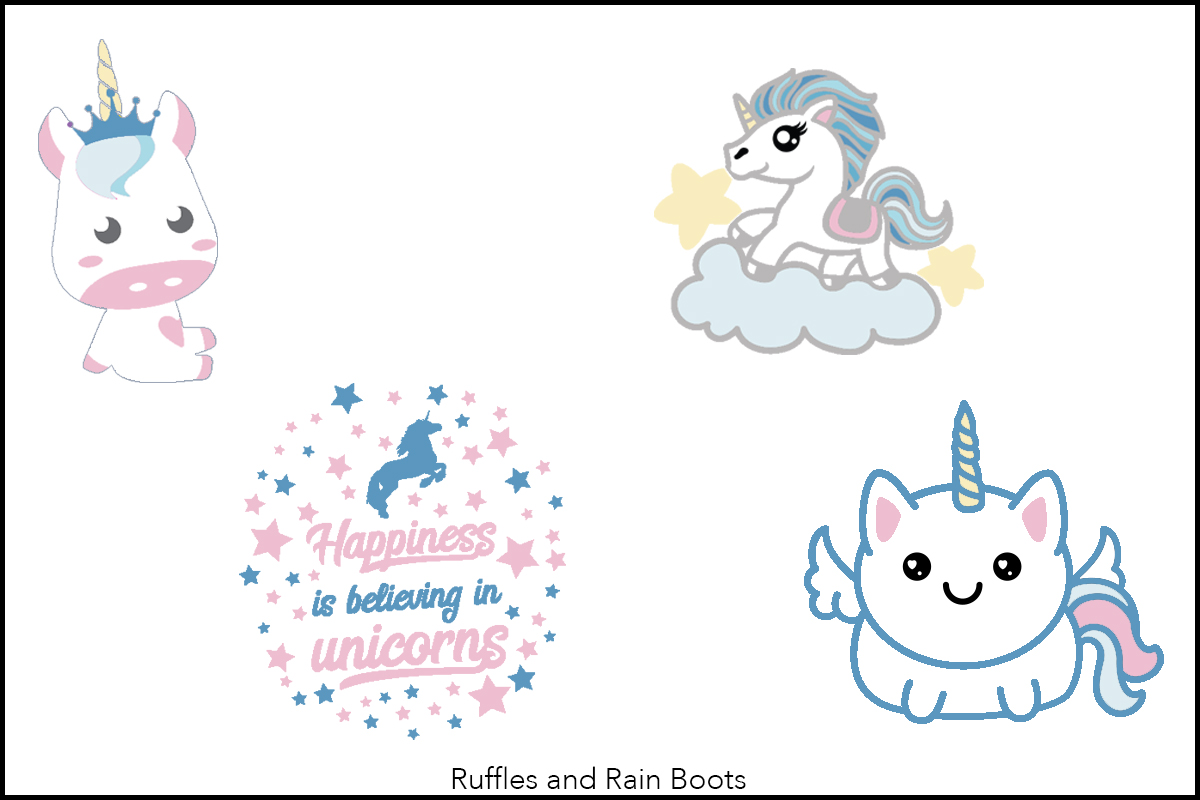 free unicorn fonts and svgs for cricut silhouette