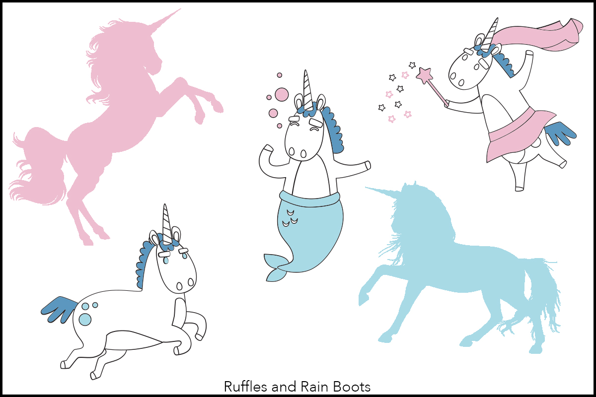 free unicorn graphics