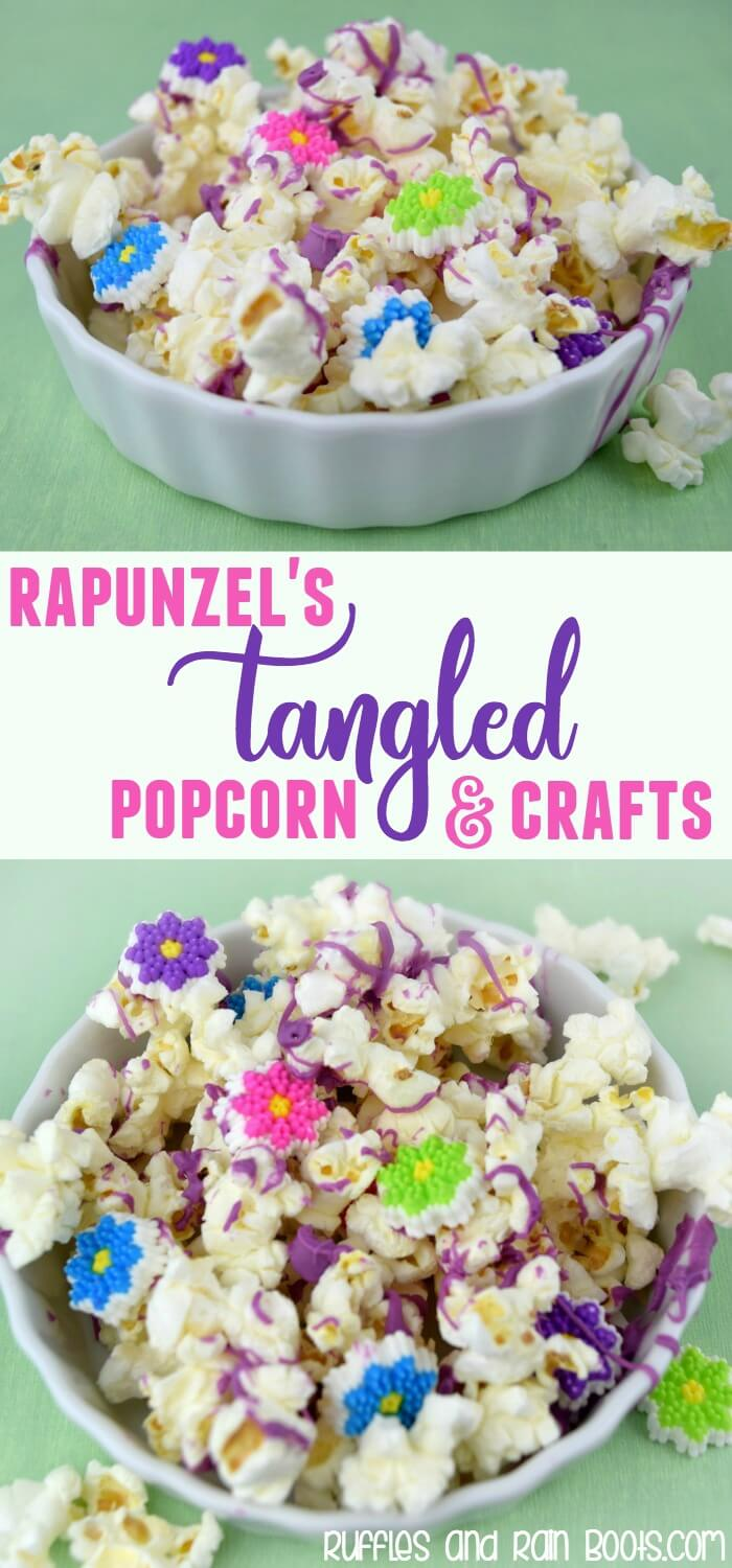Tangled popcorn recipe for a Rapunzel movie night