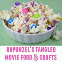Tangled Popcorn and Rapunzel Movie Night