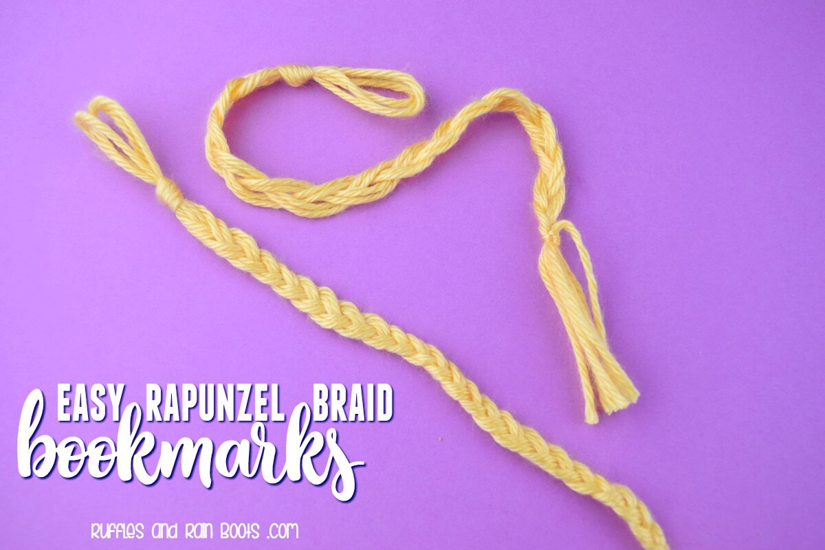 Easy Rapunzel Braid Bookmark Tangled Movie Craft