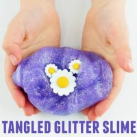 Tangled Glitter Slime – Rapunzel Movie Night