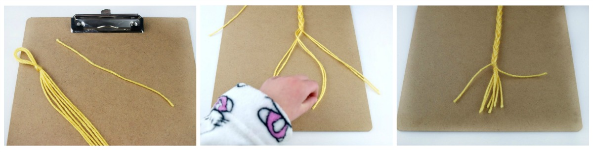 Tangled Movie craft Rapunzel Braid Bookmark for Early Readers
