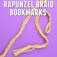 Rapunzel Braid Bookmark – Tangled Movie Crafts