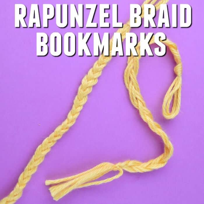 This easy Tangled movie night craft is perfect for small Rapunzel fans. Early readers can make Rapunzel braid bookmarks in just a few minutes. #rapunzel #tangled #rufflesandrainboots