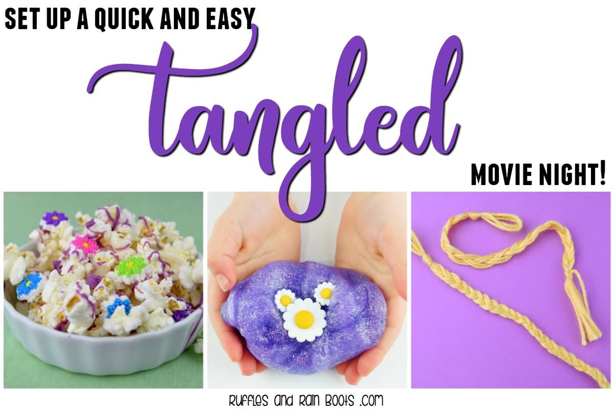 Set up a quick and easy Tangled movie night for all Rapunzel fans.
