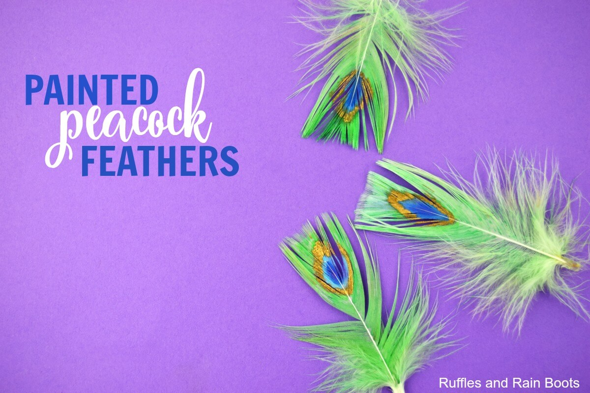 Learn how to craft with painted peacock feathers