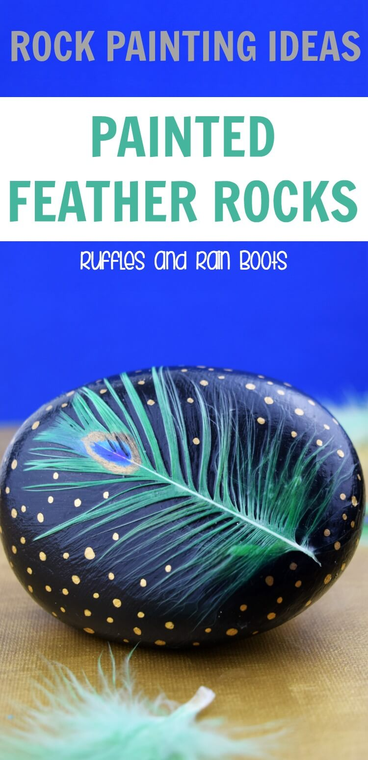 Make these jaw-dropping painted peacock feather rocks and take your rock painting to a new level! #rockpainting #rockpaintingideas