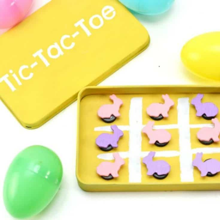 Make this fun Easter Tic-Tac-Toe game for an Easter basket idea or just a fun toy