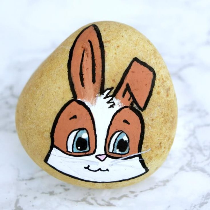 Bunny Rock Painting Tutorial - Manga Style Rabbit
