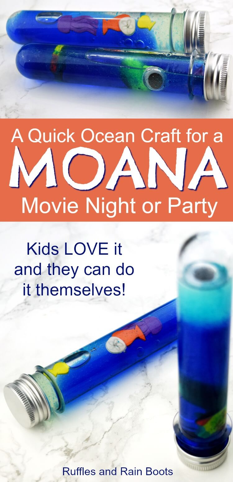 Set up this easy, quick ocean craft for kids for any Moana Party or Moana movie night. Your kids will LOVE that they can do 100% of this by themselves. #ocean #moana