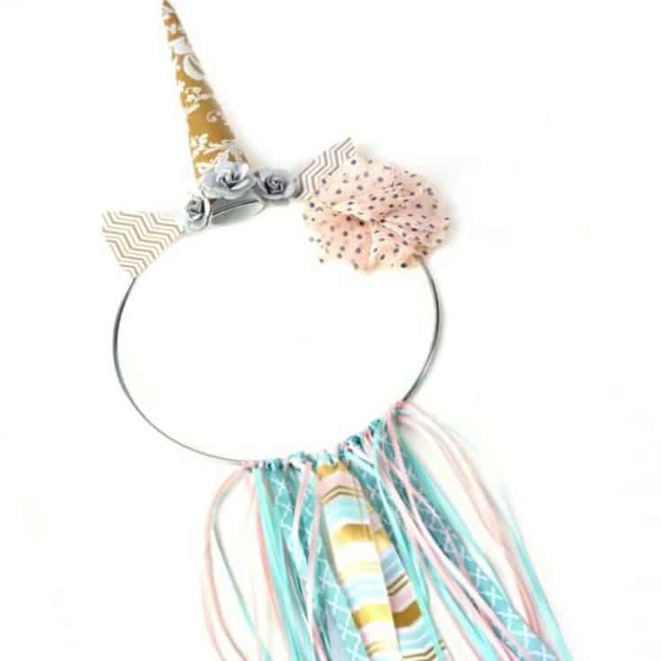 DIY Unicorn Ribbon Ring Decor - So Cute!