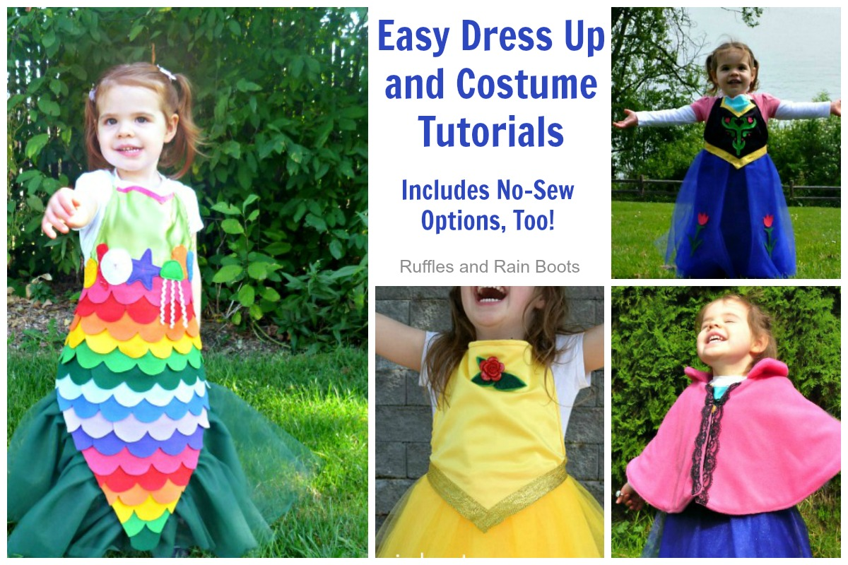 No Sew Dress Up Tutorials for Kids Costume Tutorials No Sewing