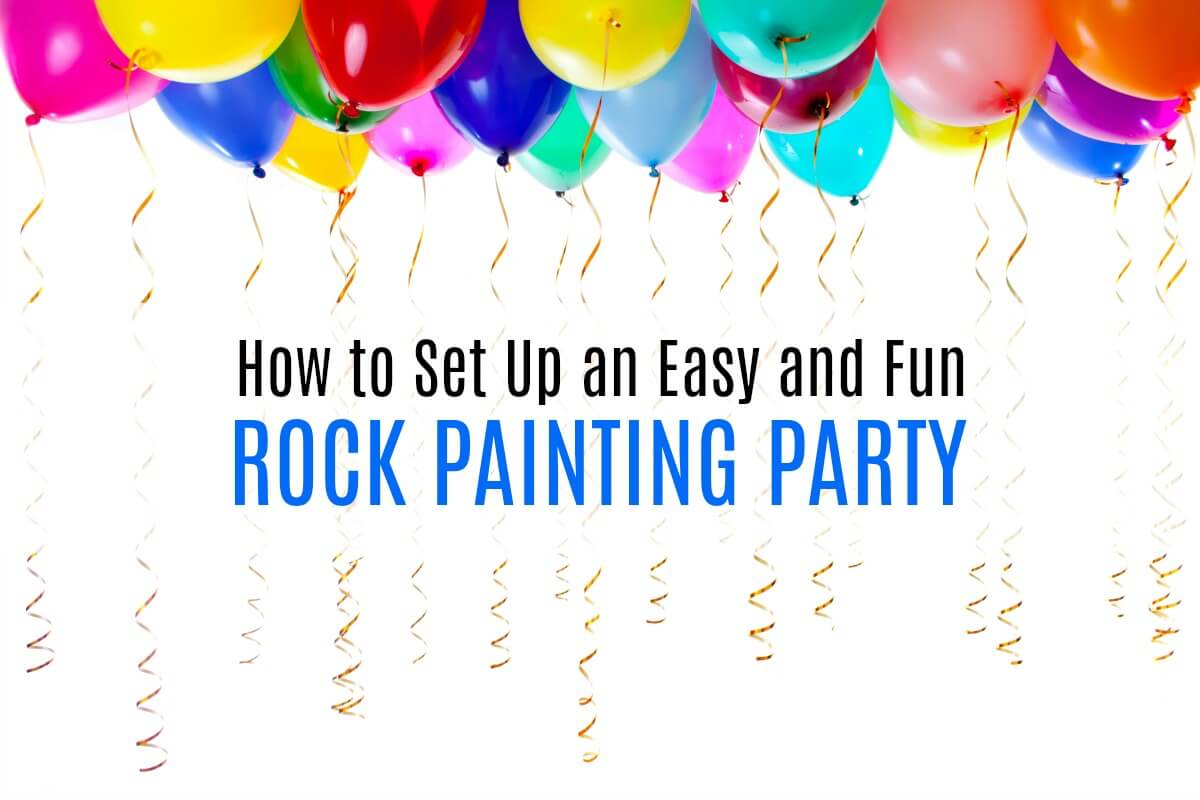 Set up a fun rock painting party for kids