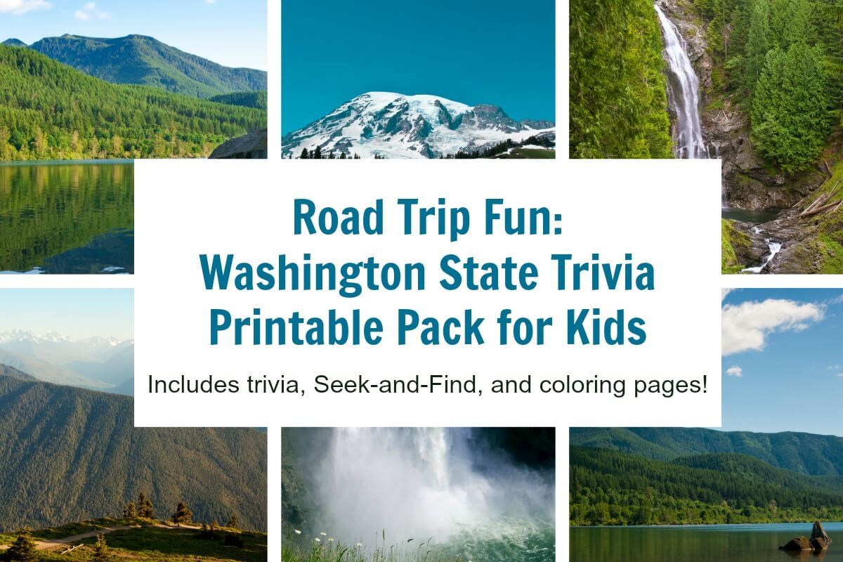 Take this road trip game with you - Washington state trivia and play pack