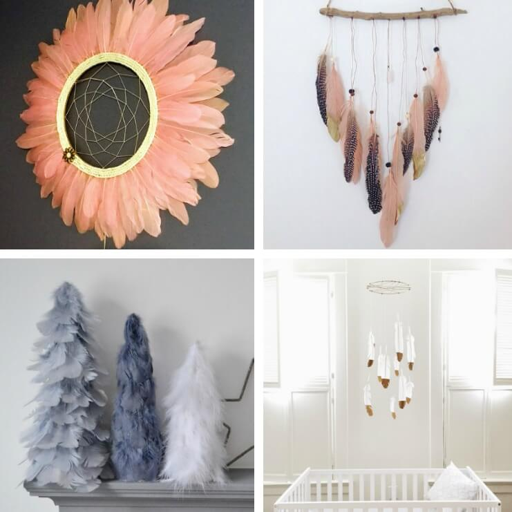 These are the best painted feather projects for the home. Such fun, natural boho style