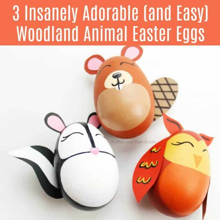Woodland Animal Easter Eggs Decor