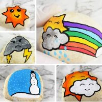 Learn How to Make 6 Adorable Kawaii Weather Story Stones