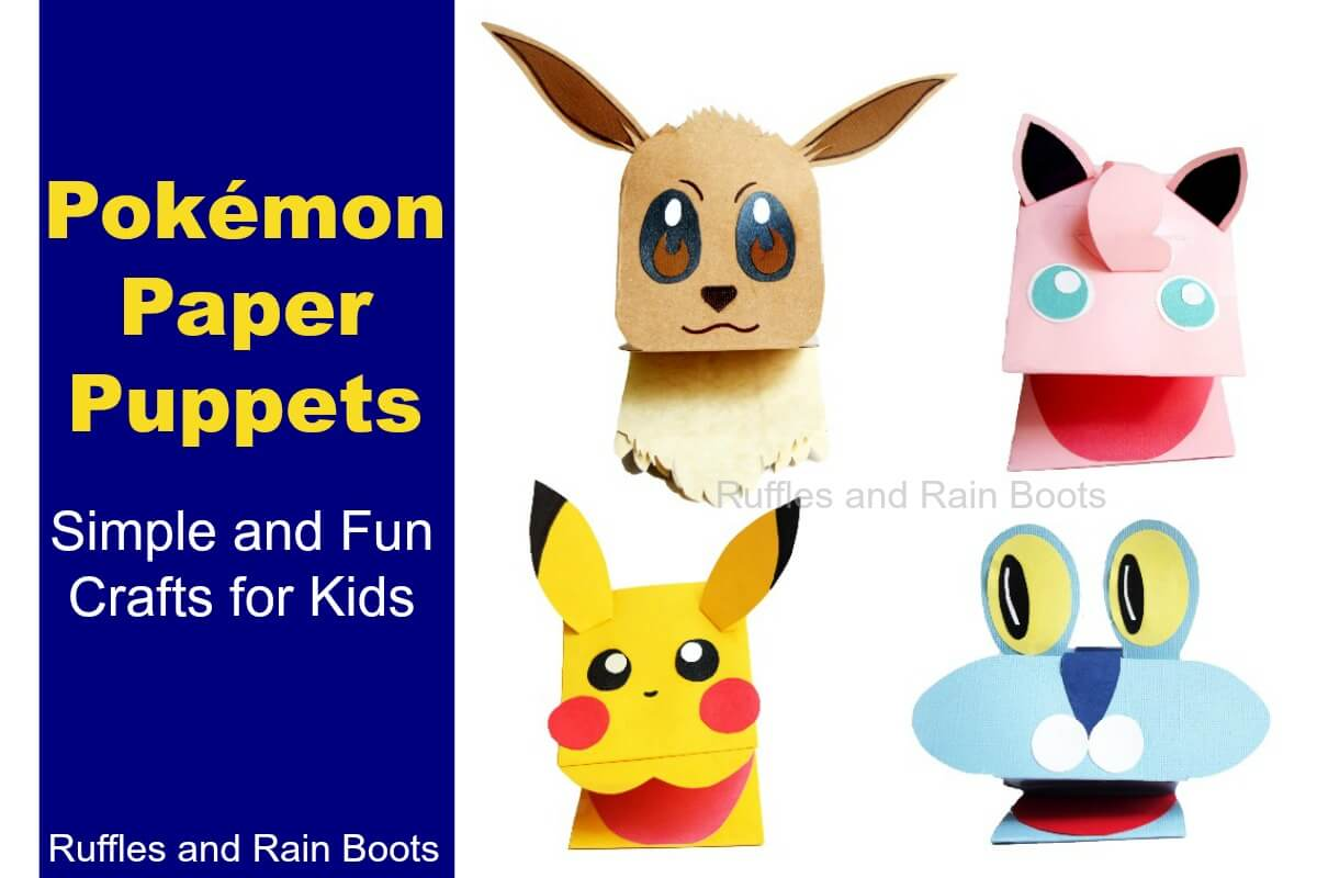 4 Amazing And Adorable Pokemon Paper Puppets