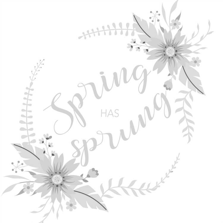 Spring Hand Lettering Practice Sheet – Spring Has Sprung