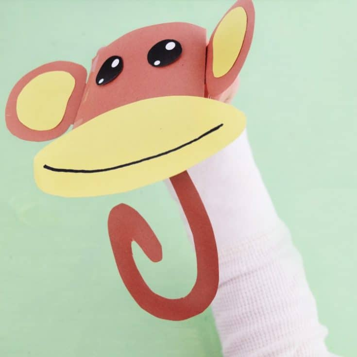The Most Adorable Monkey Paper Puppet with Free Template!
