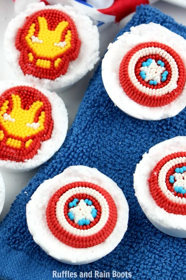 Avengers Bath Bombs craft for kids