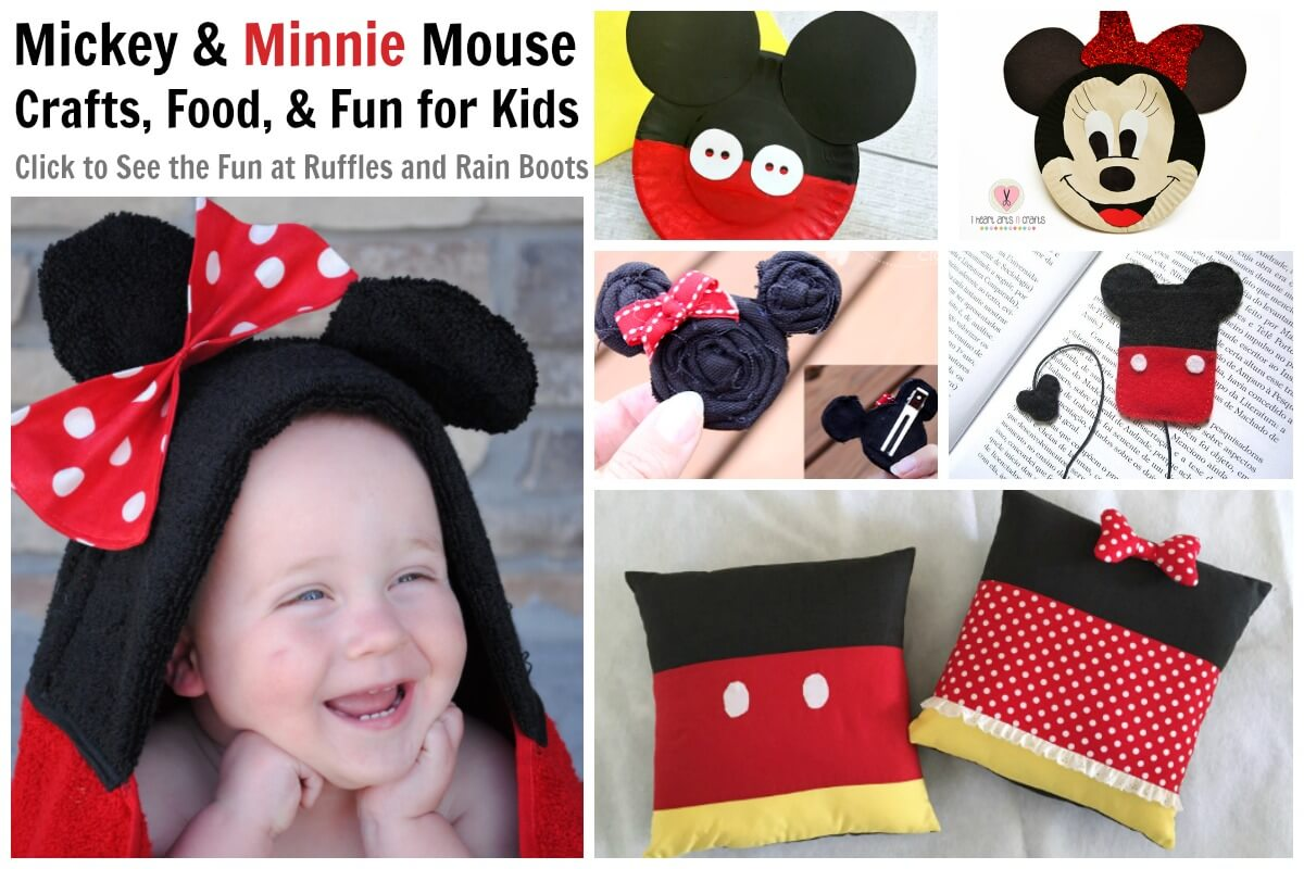 Mickey Mouse Crafts for a Birthday Party Playdate or Movie Night Fun