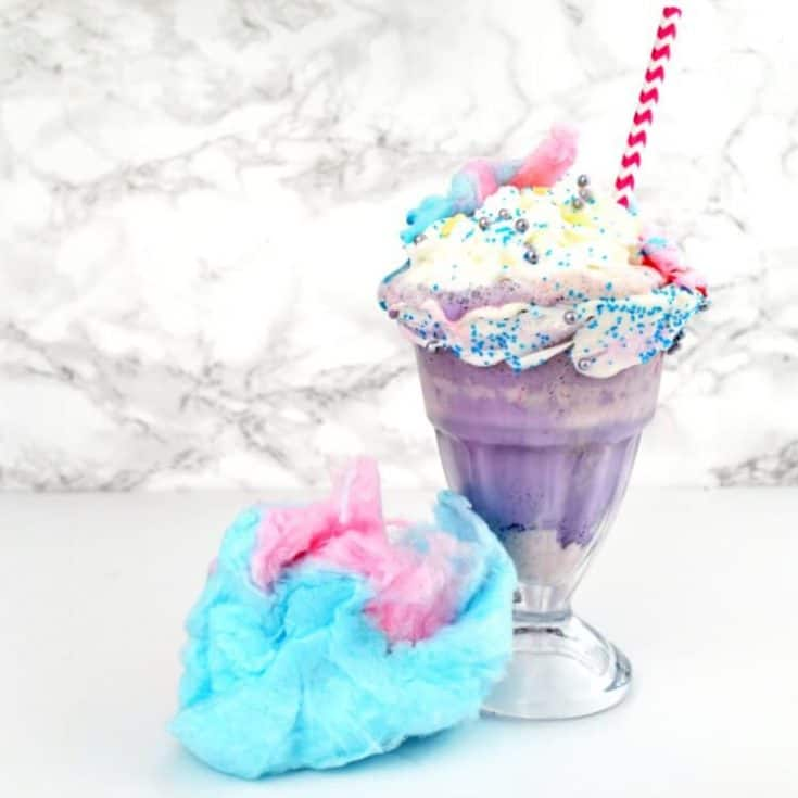 No artificial colors or flavors in this natural unicorn milkshake