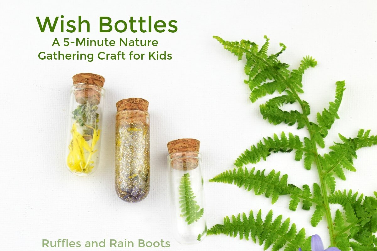 Wishing Bottles a Quick Nature Craft for Kids