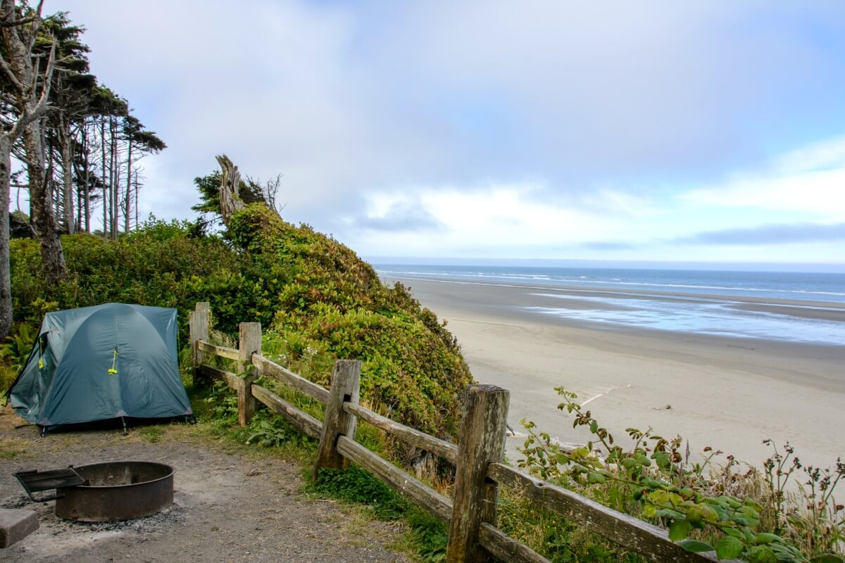camping with kids Kalaloch campground Olympic National Park