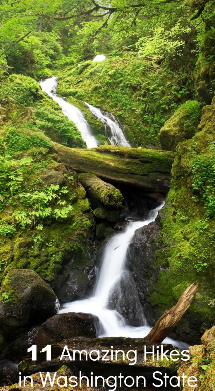 These amazing hiking trails in Washington State will blow you away. From camping to day tripping, these hikes are worth every moment. #hiking #Washington #WashingtonState #Seattle #daytrip #camping #rainforest #rufflesandrainboots