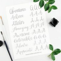Letter A Calligraphy Practice Sheets – 8 Styles!