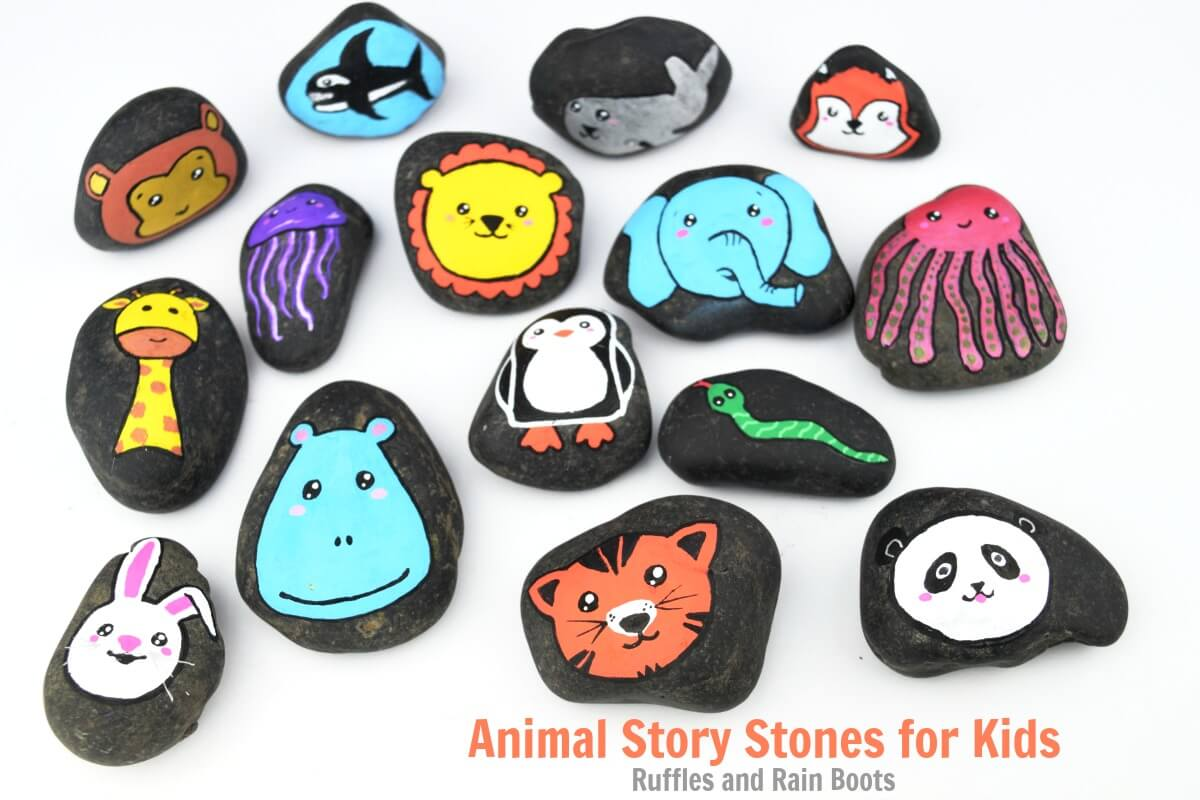 Animal Story Stones Rock Painting Ideas for Animals