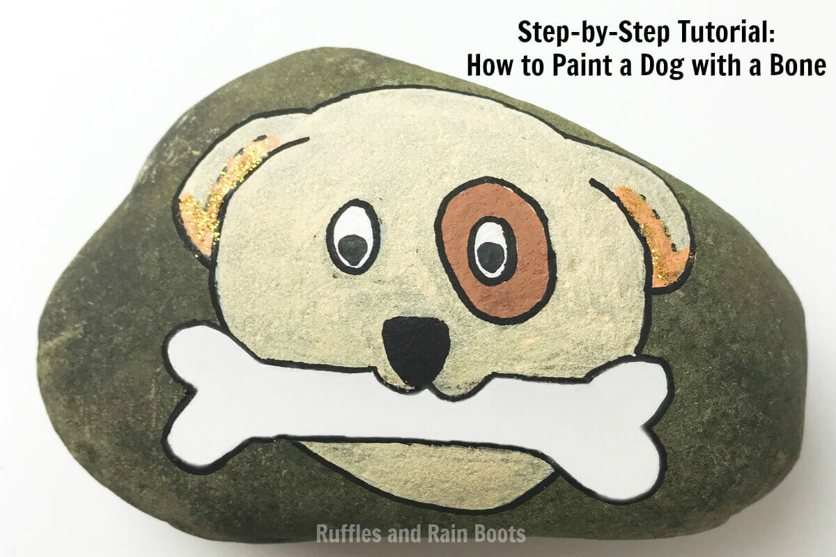 Learn how to make a dog rock painting idea come to life